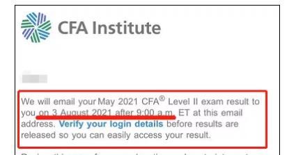 2021年CFA考试成绩发布日期新公告(美国东部时间)