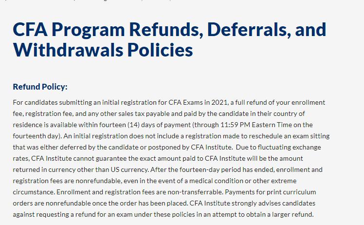 CFA最新延期申请相关说明,附cfa缓考申请政策