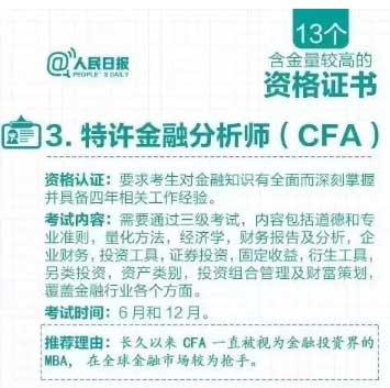人民日报再三推荐CFA,高级金融人才培养