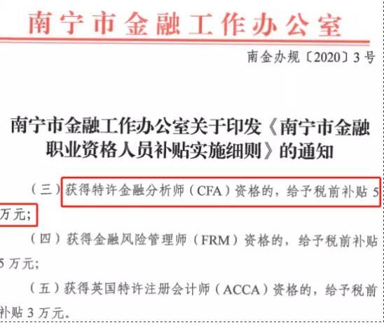 2021年获得CFA证书,CFA证书的持证人